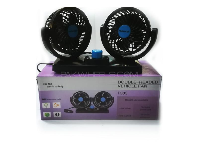 Double Head 360 Rotational Portable Fans in Lahore