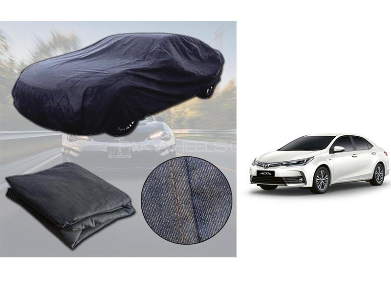 Toyota Corolla 2014-2021 Denim Double Stitched Top Cover  in Karachi