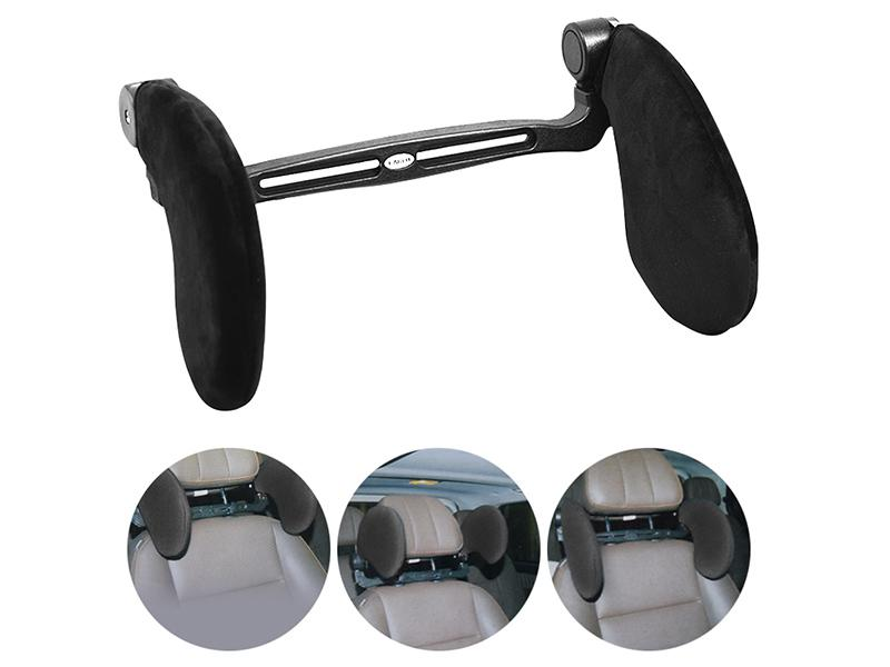 Universal Car Seat Headrest - Black  Image-1