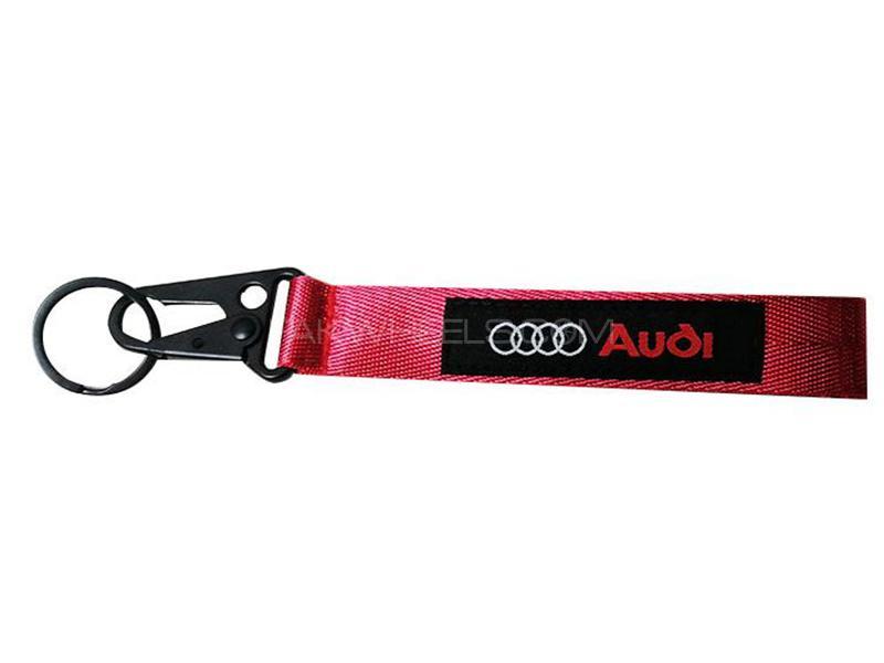 Audi Ribbon Keychain - Red in Karachi