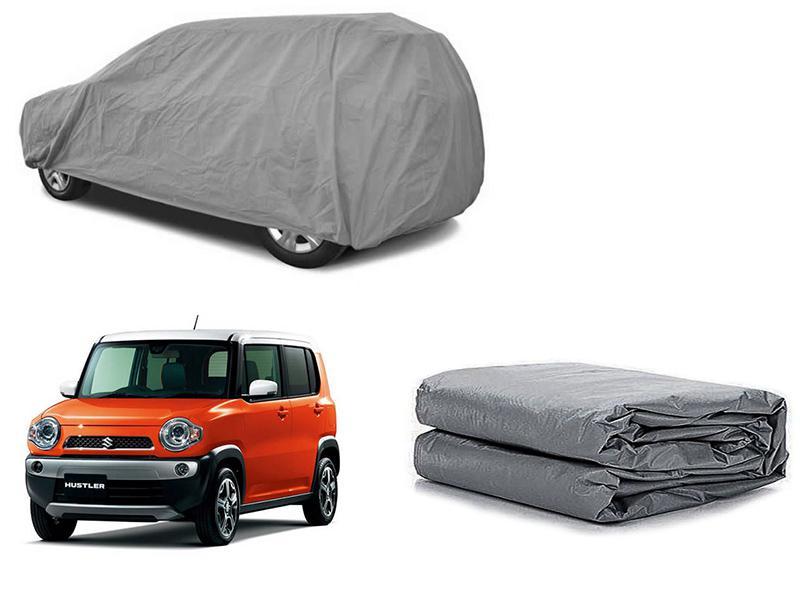 Suzuki Hustler 2014-2021 PVC Cotton Fabric Top Cover - Grey  in Karachi