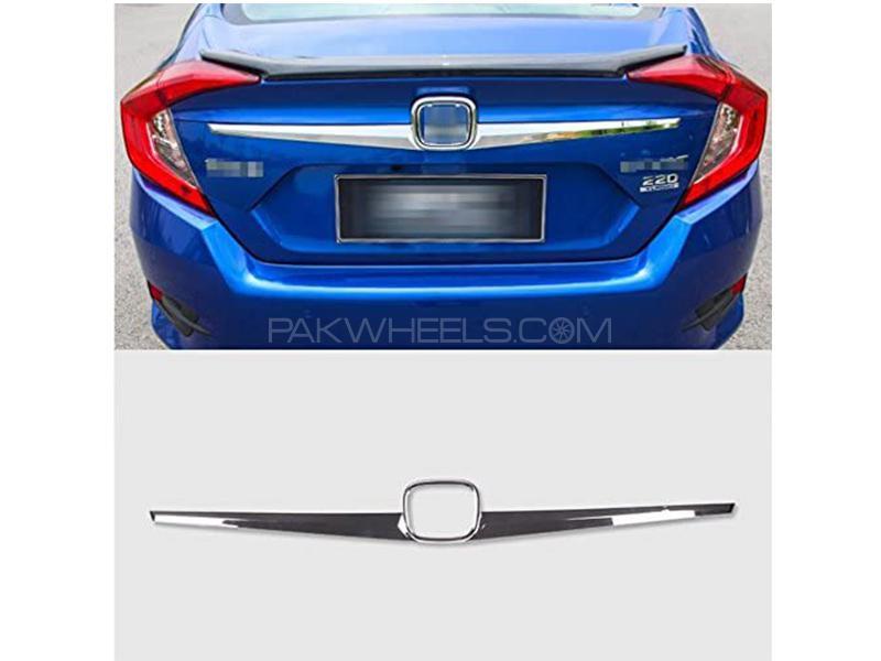 Honda Civic 2016-2021 Trunk Strip - Chrome in Karachi