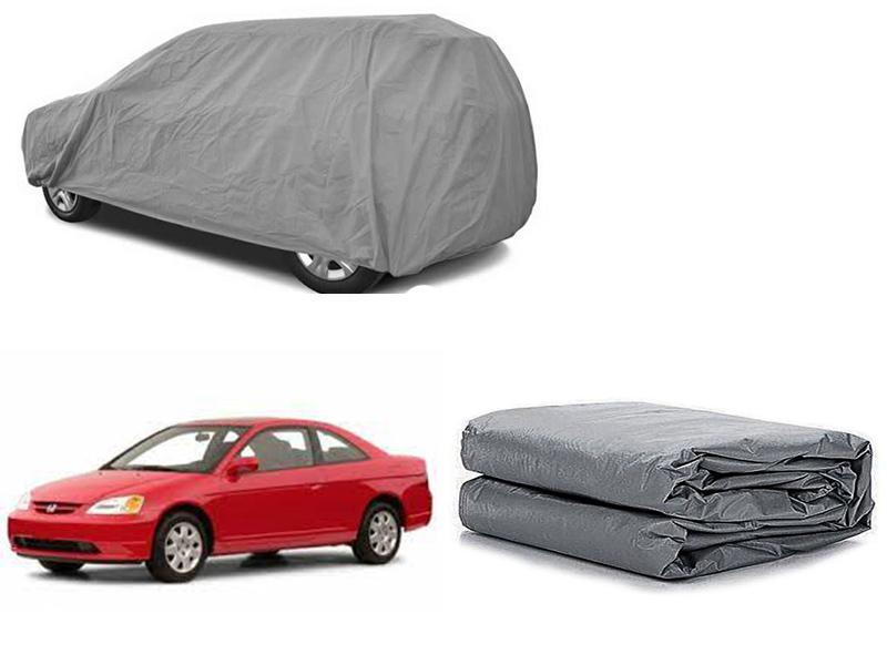 Honda Civic 2001-2006 PVC Cotton Fabric Top Cover - Grey  in Karachi