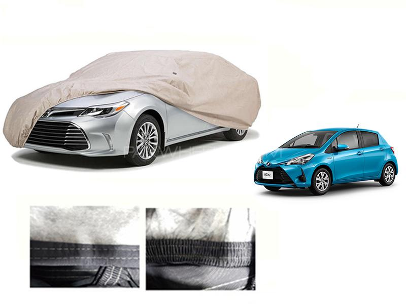 Toyota Vitz 2014-2021 PVC Cotton Car Top Cover  in Karachi