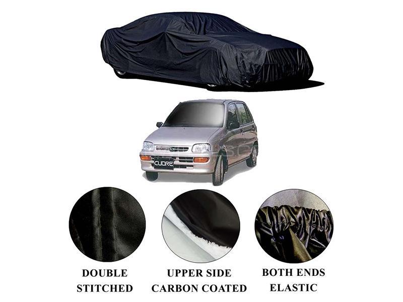 Daihatsu Cuore 2000-2012 Polymer Carbon Coated Car Top Cover in Karachi