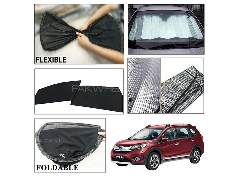 Honda BR-V 2017-2021 Foldable Shades And Front Silver Shade - Bundle Pack  in Karachi