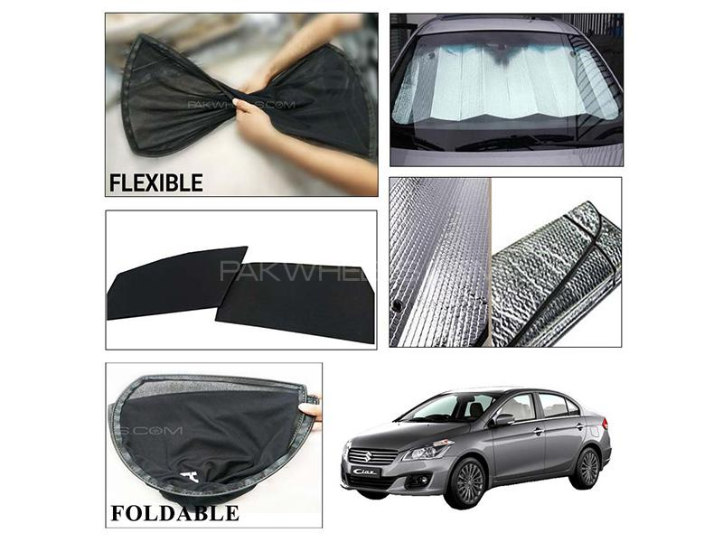 Suzuki Ciaz Foldable Shades And Front Silver Shade - Bundle Pack  in Karachi