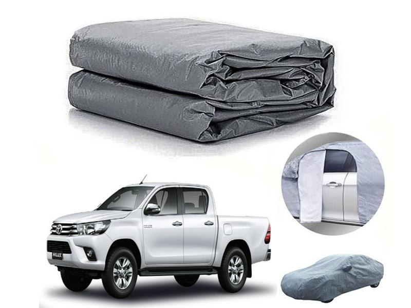 Toyota Revo 2016-2021 PVC Cotton Fabric Top Cover - Grey  in Karachi