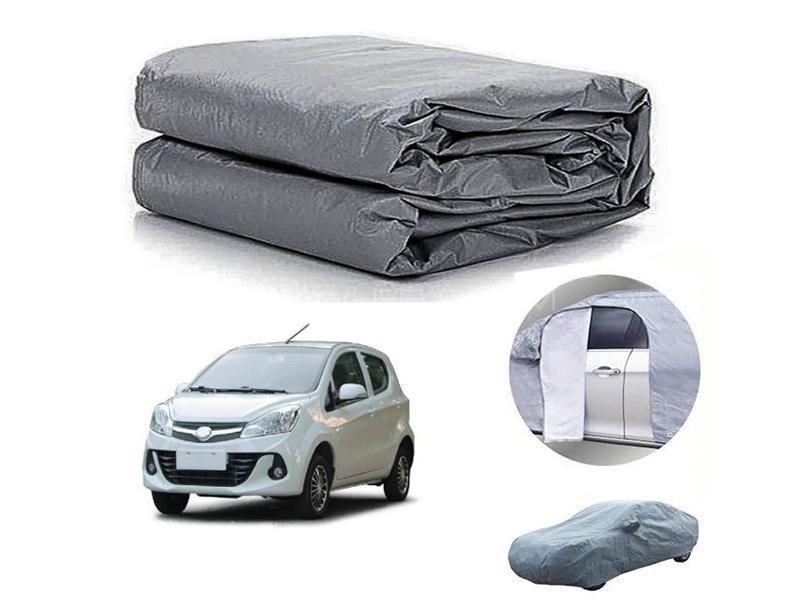 Prince Pearl 2020-2021 PVC Cotton Fabric Top Cover - Grey  in Karachi