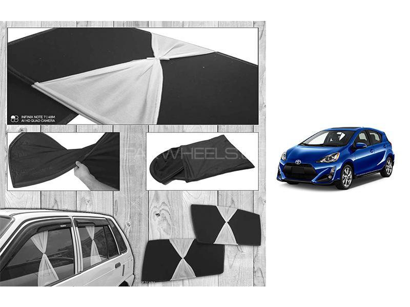 Toyota Aqua 2013-2021 Fancy Design Foldable Sun Shades  in Karachi