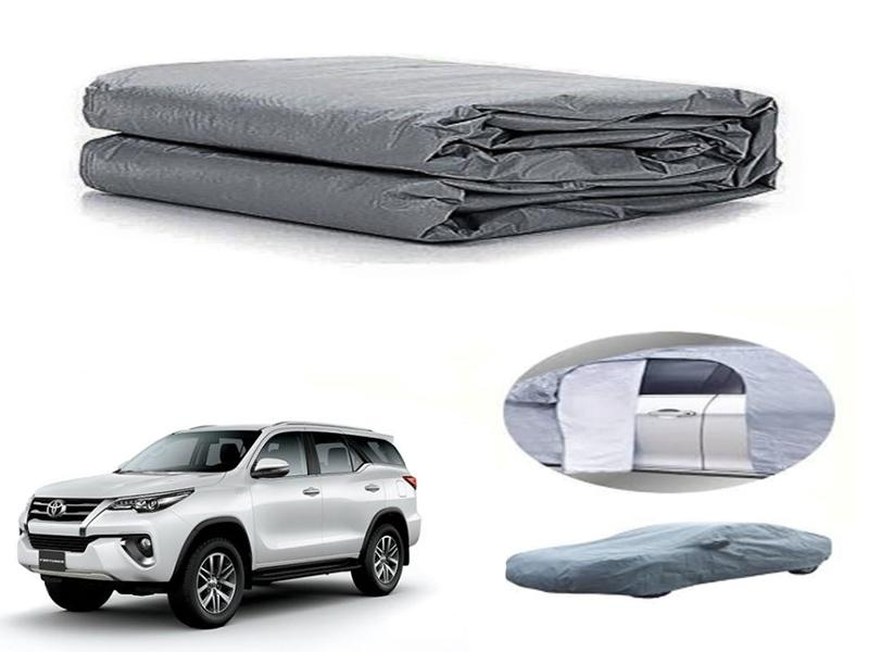 Toyota Fortuner 2016-2021 PVC Cotton Fabric Top Cover - Grey  in Karachi