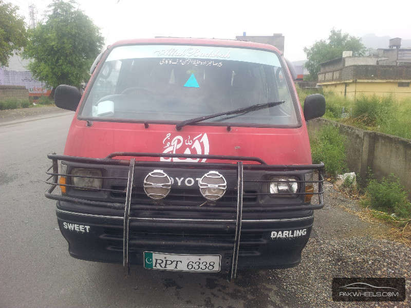 Toyota hiace grand cabin 1992 for sale in hassan abdal pakwheels