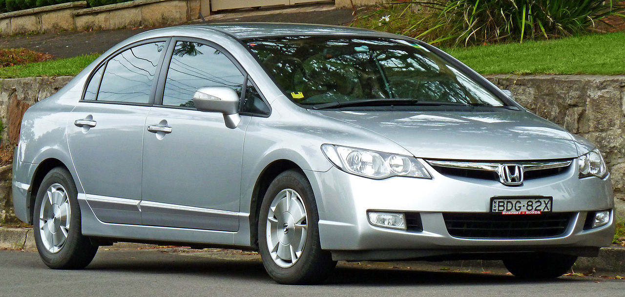 Honda Civic Hybrid Exterior Front Side View